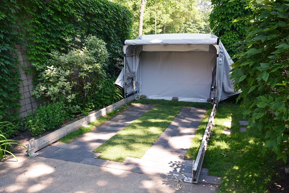 Retractable Car Garage : Retractable portable garage canopy shelter