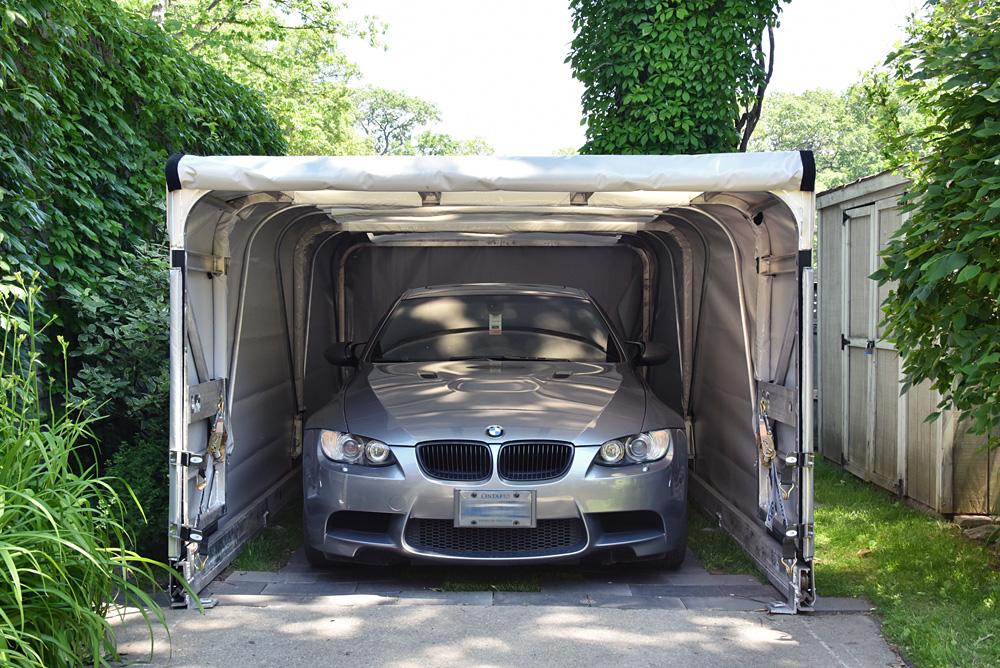 Portable Car Parking Shelter : Retractable portable garage canopy shelter